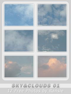 Pacote de imagens de céu nublado