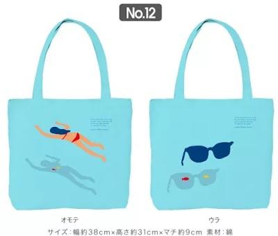 「佐野研二郎氏パクり・盗作疑惑14」トートバック:泳ぐ人1