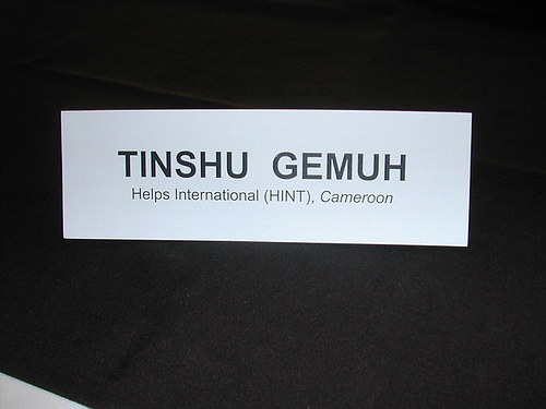 Name Tag on table