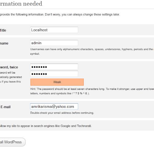 Cara Membuat atau Install Blog WordPress di Localhost dengan XAMPP