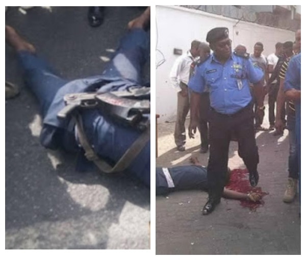 See Photos Of The Police Officer Who Survived The Robbery At Zenith Bank Owerri