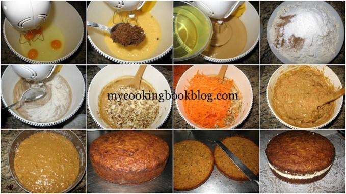 Торта калинка от морковен кейк