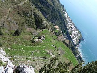 Pariano, two thousand feet down.