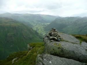 Eagle Crag Summit with Borrowdale