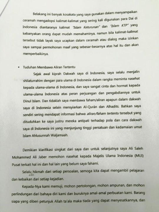 Surat Terbuka Ali Jaber 3