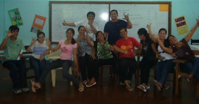 Day 4 - Aborlan School for the Deaf faculty and staff posing wacky shot