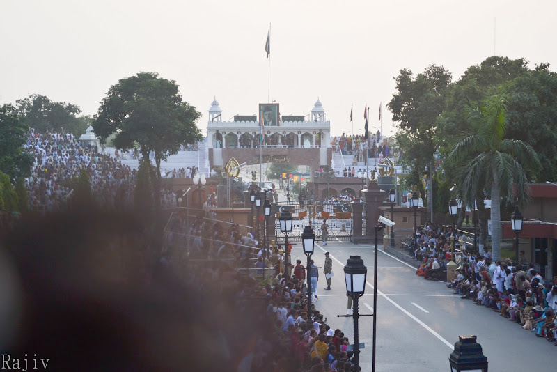 View of the Pakistani side of the Border Gate, Wagah