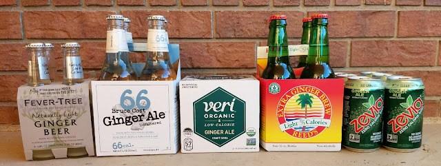 Comparison of Fever-Tree Naturally Light Ginger Beer, Bruce Cost Ginger Beer 66, Veri Organic Low-Calorie Ginger Ale, Reeds Extra Ginger Brew Light, Zevia Ginger Ale