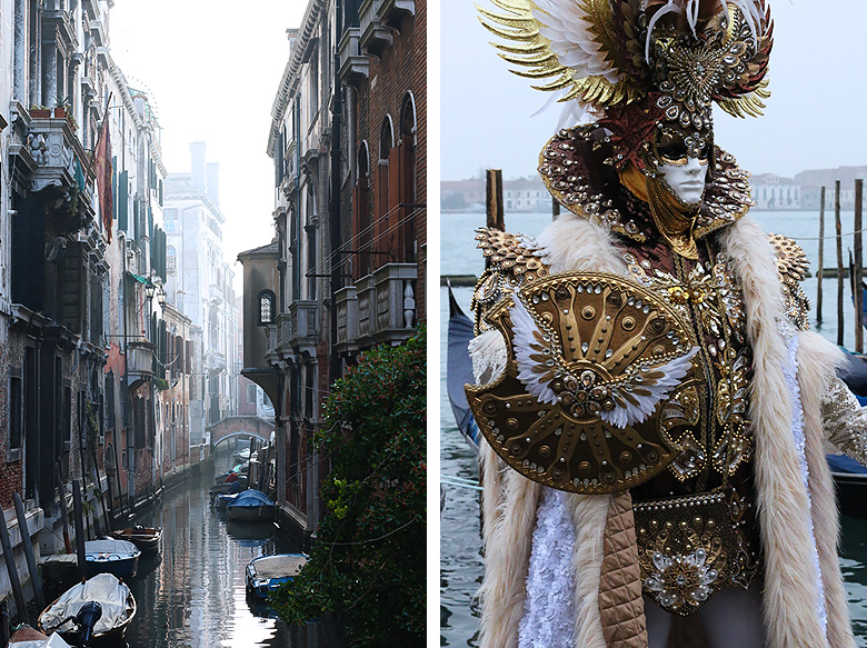 Costume masculin du Carnaval de Venise 2016.