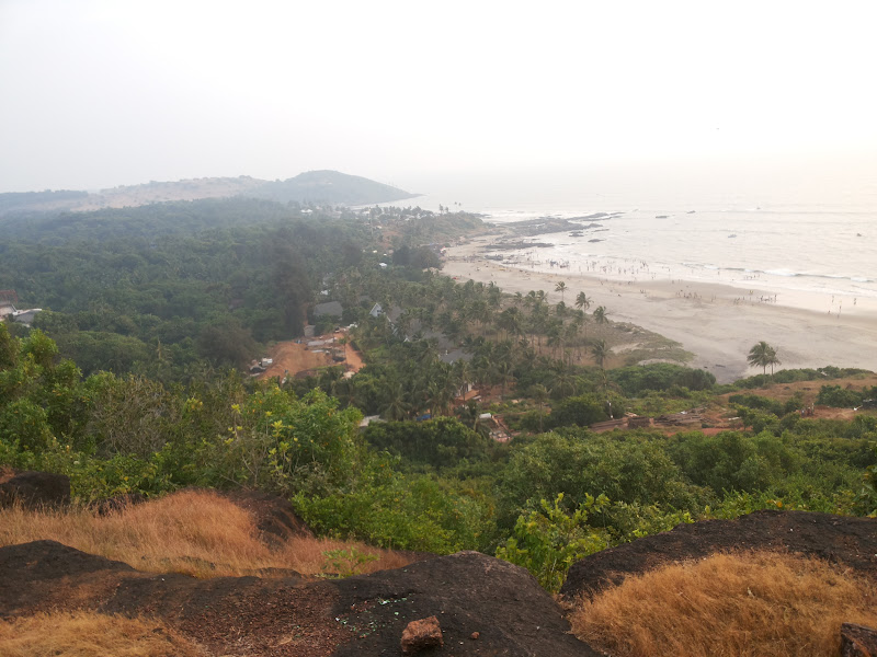Vagator beach from Chapora fort - Goa