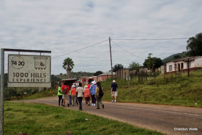 visitors to Durban are guided through the Zulu village of Isithumba in the Valley of 1000 Hills