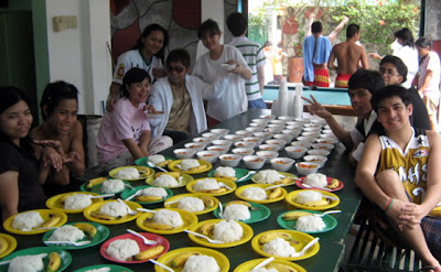 Students preparing lunch had a short photo shoot.