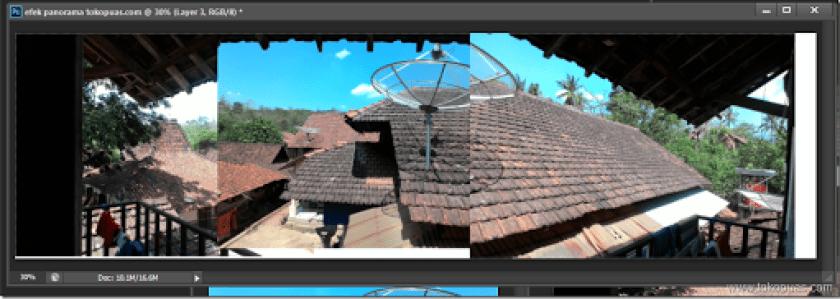 tutorial penggabungan foto menjadi foto panorama