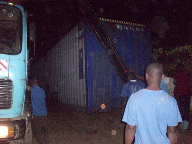 Container Arrival & Offloading in Buea - 100_9151.JPG