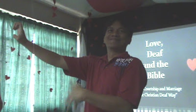 "Sir Jojo gives a lecture about ""Love, Deaf and the Bible"""