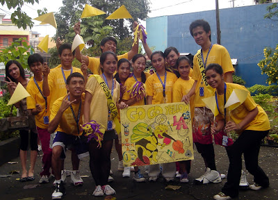 Yellow Team Banner Parade