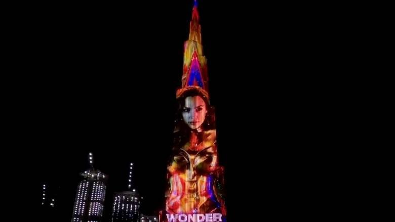 Wonder Women 1984 gets Showcased at Dubai's Famous Burj Khalifa