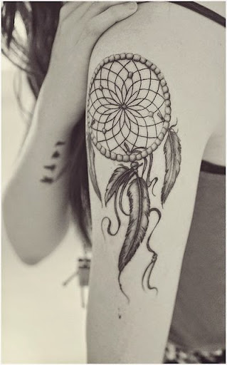 Dreamcatcher Tattoos on shoulder
