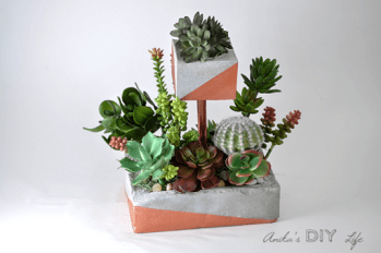 tiered concrete planter