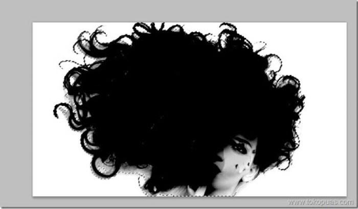 tutorial membuat seleksi rambut photoshop efek