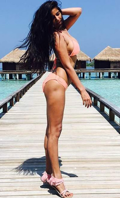 Poonam Pandey Sizzles in a Bikini in Maldives