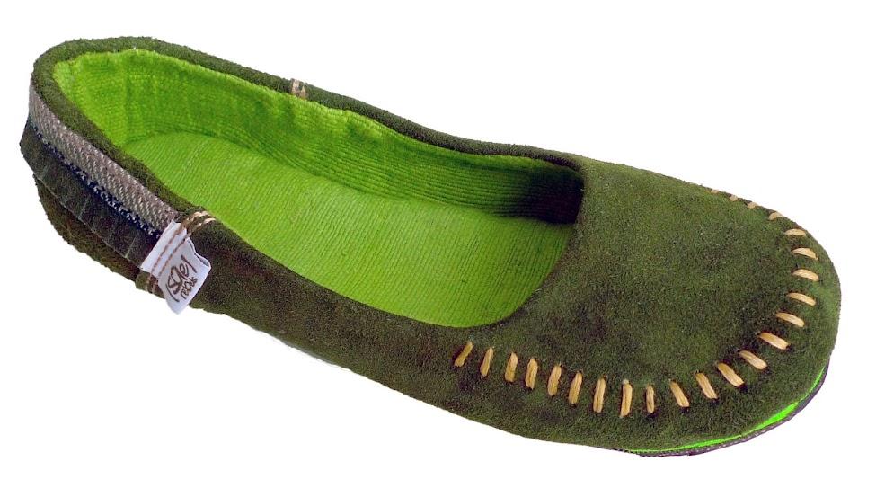 *soleRebels 手縫麂皮莫卡辛:moc up accent fringe平底鞋! 3