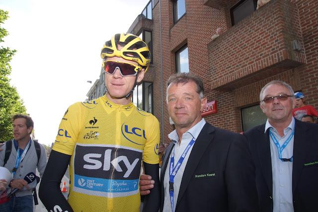 Chris Froome en Piet Samyn