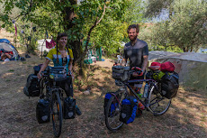 Two other cyclists we met: Kim and Keir