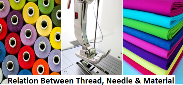 Relation between thread, needle and material