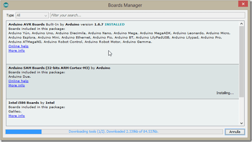 6 Download tool thumb1 - Sviluppare con Arduino due