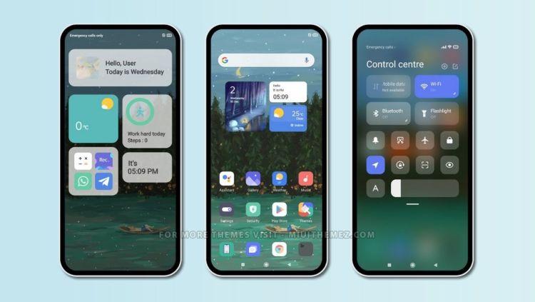 [HERUNTERLADEN] : Löschen Sie ein MIUI-Thema mit iOS-Widgets und sauberen Symbolen