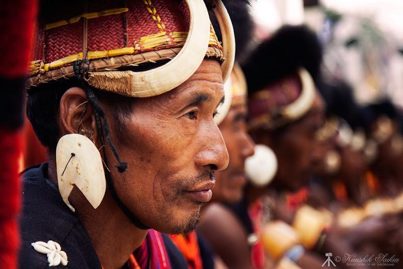 A Naga tribes-man at the Hornbill festival