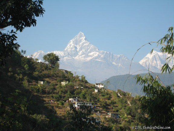 Another bright view of Fishtail from my home