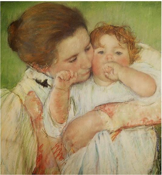 Mother and Boy - Mary Stenvenson Cassatt - Maternidade em obras de arte