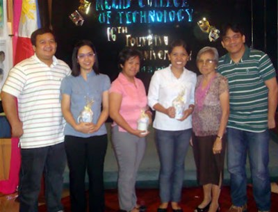 Awarding of Tokens of Appreciation to Judges together with Sir Ervin Reyes, Ma'am Remedios Esposa and Sir Jojo Esposa