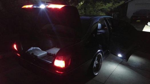 trunk and rear door leds