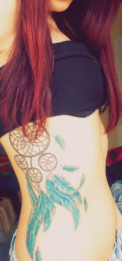 ribs Dreamcatcher Tattoos ideas for girls