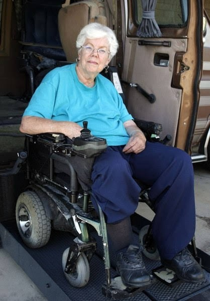 Barbara Toomer, advocate for the disabled on August 9, 2006
