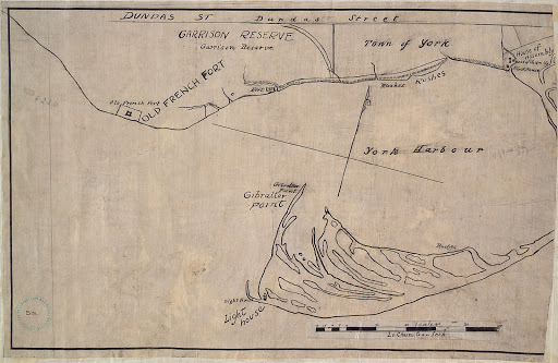 1816 Garrison Reserve & Town and Harbour of York r-8