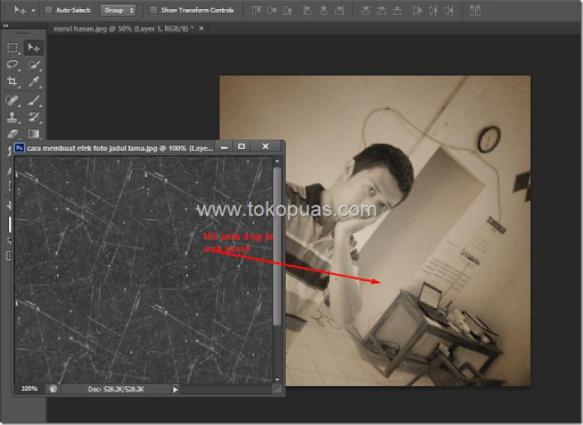 trik membuat efek foto super jadul dan lama