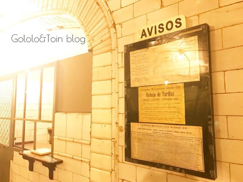Taquilla metro estación fantasma de Chamberí