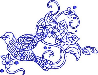 Bluework embroidery