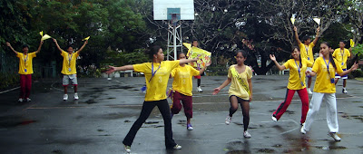 Yellow Cheer Dance Team