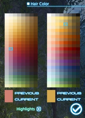 FFXIV Hair Color