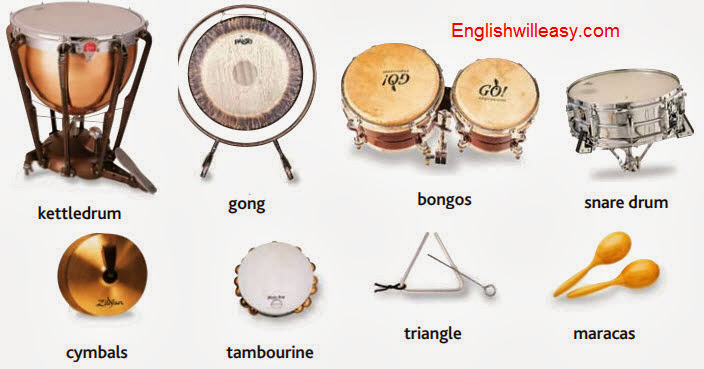 Musical Instruments Names with Names and Pictures - Online