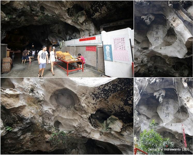 batu kapur di kuil gua perak tong