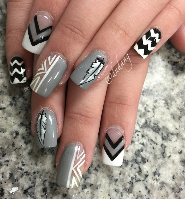 A Great Nail Art Design For The Winter