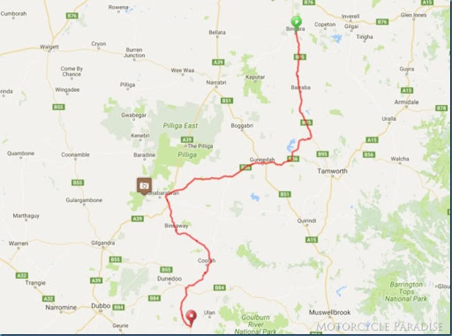 Down Under D2B   A motorcycle ride in Bingara  NSW
