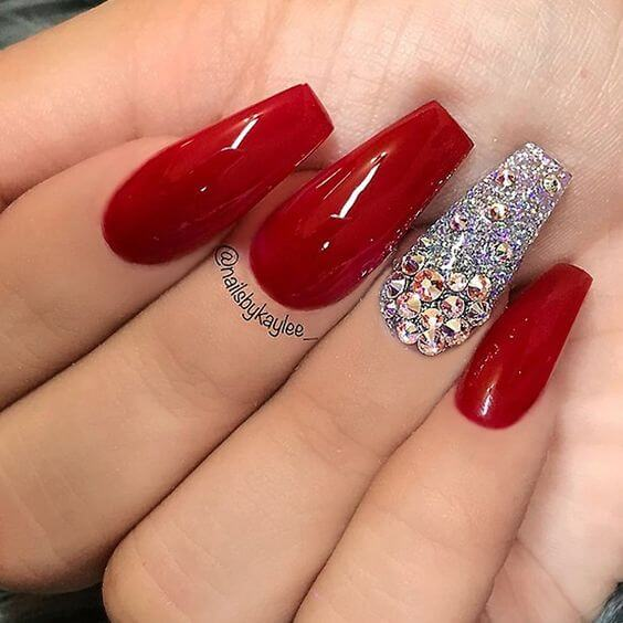 Red And Pink Acrylic Nail Designs For This Season Pretty 4
