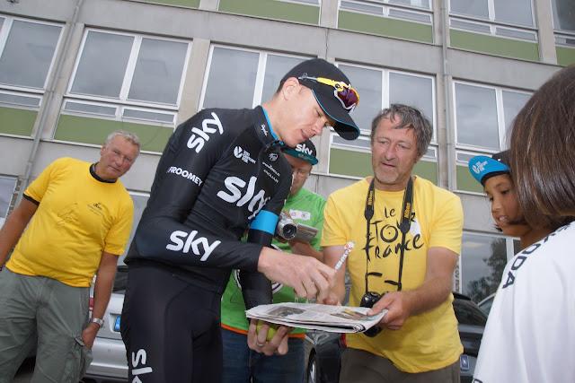 Chris Froome en Bulleke